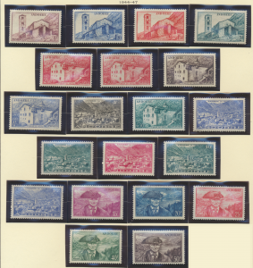 Andorra (French Administration) Stamps Scott #85 To 104, Mint Hinged - Free U...