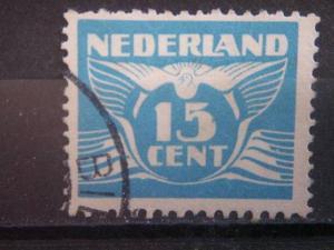 NETHERLANDS, 1941, used 15c, Scott 243J, Gull