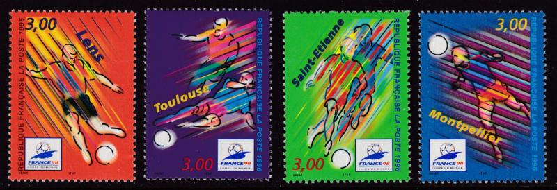 France 1996 Complete World Cup Soccer Complete (4)   VF/NH