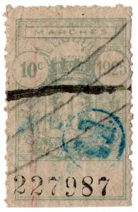 (I.B) France Colonial Revenue : Vietnam (Hanoi) Market Tax 10c