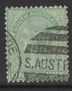 SOUTH AUSTRALIA SG175 1895 1d PALE GREEN USED