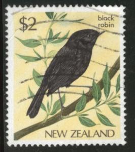New Zealand Scott 769 used 1985 Black Robin Bird stamp