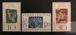 Liechtenstein 1965 #401-3, MNH, CV $1.40