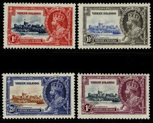 BRITISH VIRGIN ISLANDS GV SG103-106, SILVER JUBILEE set, M MINT. Cat £25.