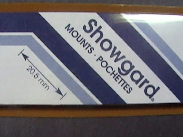 SHOWGARD MOUNTS # 20--215MM LONG x 20MM WIDE---22 STRIPS---BLACK /NEW
