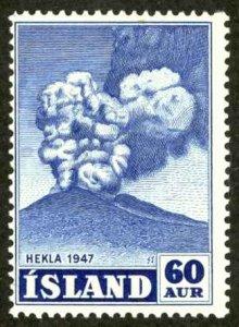 Iceland Sc# 250 MH 1948 60a Hekla Volcano