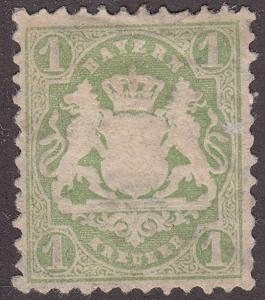 Germany, Bayern 33 Coat of Arms 1kr 1875