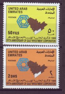 J20800 Jlstamps 1989 uae set mnh #287-8 design
