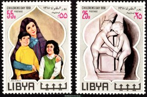 Libya Scott 334-335 Mint never hinged.
