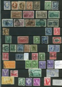 US MINT AND USED SELECTION COLUMBIAN 50C USED 15C MINT HIGH CATALOGUE VALUE