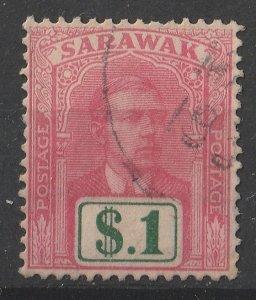Sarawak 1928/1929 Sir Charles Vyner Brooke 1$ (1/15) USED