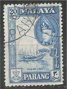 PAHANG, 1957, used 20c, Abu Bakar Scott 78