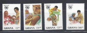 Ghana MNH 1051-4 Immunizations Health UNICEF