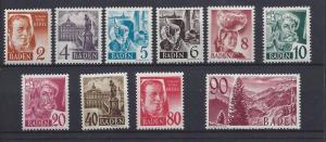 Germany (Baden), 5N28-40, Various Designs Singles,**VLH**