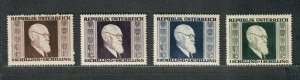 Austria Sc#B167-B170 M/NH/VF, Cv. $19