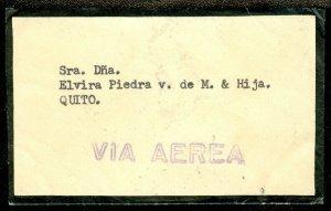 EDW1949SELL : ECUADOR Choice Air Mail Internal Mourning cover.