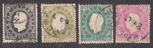 Portuguese India - 1886 - SC 174-77 - Used