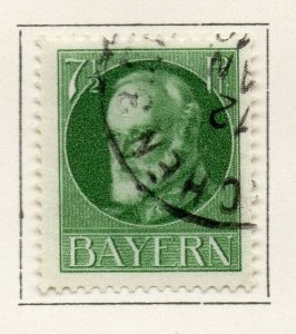 Bayern Bavaria 1914-18 Early Issue Fine Used 7.5pf. NW-120699