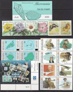 MICRONESIA  ^^^^^^1980's  MNH   collection ( TOPICALS ) @x xlar1772micro72