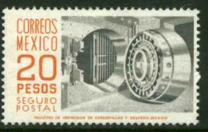 MEXICO G24 $20.00 1950 Def 8th Issue Fosforescent coated MINT, NH. VF.
