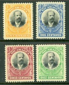 Nicaragua 1903 UNISSUED Zelaya Official Set MINT NON HINGED  L24