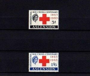 ASCENSION - 1963 - QE II - RED CROSS - CENTENARY - MINT - MNH SET!