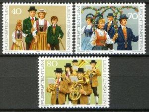 Liechtenstein 1980, Liechtenstein costumes (II) set VF MNH, Mi 754-56 cat 3,5€