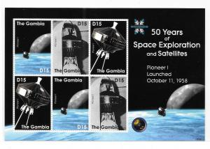 Gambia 2008 50 years of space exploration & Satellites sheet MNH Bo21