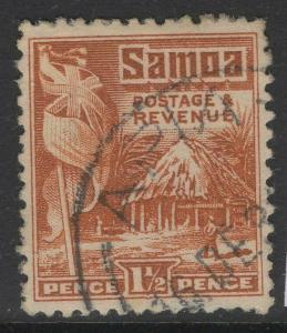 SAMOA SG155 1921 1½d CHESTNUT FINE USED
