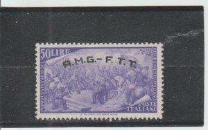 Trieste  Scott#  28  MH  (1948 Overprinted)