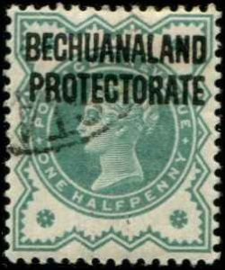 Bechuanaland SC# 75 o/p on Great Britain 1/2d Used wmk 30