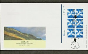14/10/03 NEW DE LA RUE BYFLEET 2nd,1st,E,68p SCOTLAND EMBLEM,CYL.NO.BLOCKS FDCS