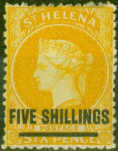 St Helena 1868 5s Orange SG20 Fine & Fresh Mtd Mint