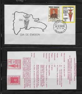 DOMINICAN REPUBLIC STAMPS,COVER MERCEDARIAS DE LA CARIDAD 1978 #F24