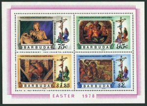 Barbuda MNH S/S 331a Easter Michelangelo 1978