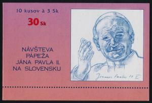 Slovakia 216 Booklet MNH Pope John Paul II