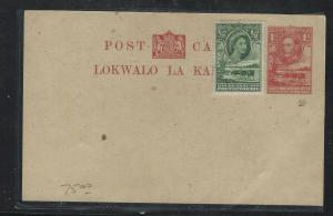 BECHUANALAND (P1703B)  PSC KGVI 1D COW UPRATED QEII  1/2D UNUSED
