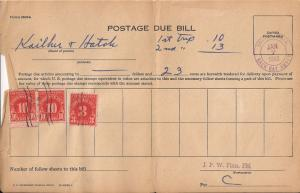 US Postage Due Bill - 01/07/1953 - $0.23