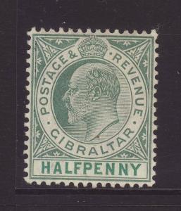 1904 Gibraltar ½d Wmk Mult Crown CA Ord Paper Mint SG56