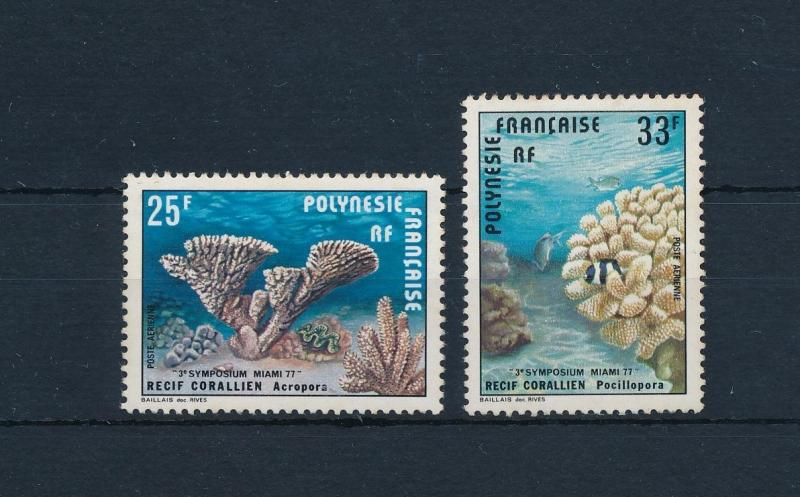 [52025] French Polynesia 1977 Marine life Corals Fish MNH light toned