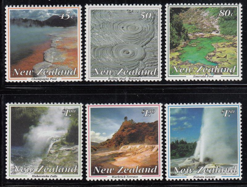 New Zealand 1993 MNH Scott #1155-#1160 Thermal Wonders of New Zealand