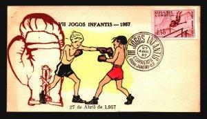 Brazil 1957 VII Jogos FDC / Hand Colored / UA - L3638