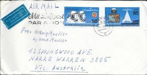 CLB131) Nice W. Germany 1987 Cover 25 Years Of Manned Space Flight