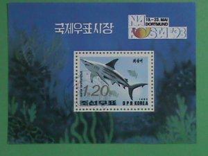 KOREA STAMP: 1993- KOREA SHARKS - CTO- NH S/S SHEET-   VERY RARE