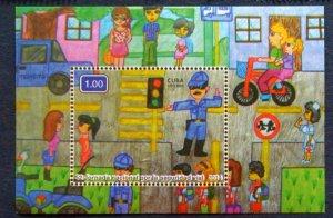 CUBA Sc# 5587  ROAD SAFETY DAY Souvenir Sheet  2014  MNH