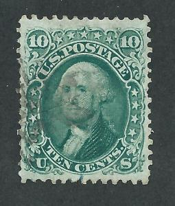 68 Used,  10c. Washington,  Dark Green