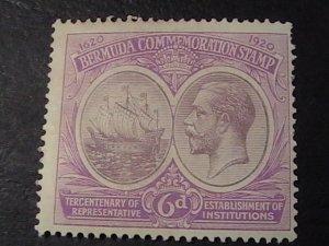 BERMUDA  # 69-MINT/HINGED--SINGLE--RED VIOLET & DULL VIOLET--1920-21