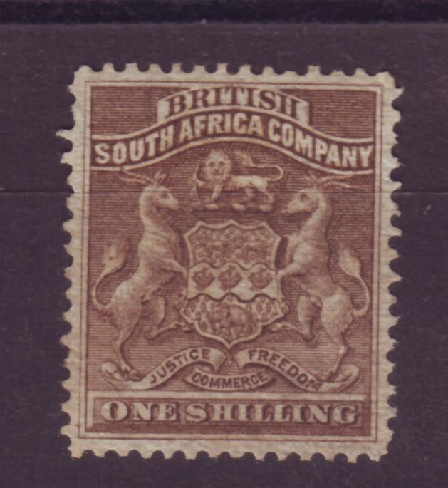 J17043 JLstamps 1890-4 rhodesia mng #9 coat of arms $55.00 scv