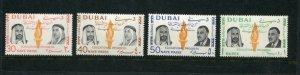 Dubai Michel #149-52A MNH