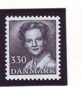 Denmark Sc 711 1984 3.30kr blueish black Queen stamp mint NH